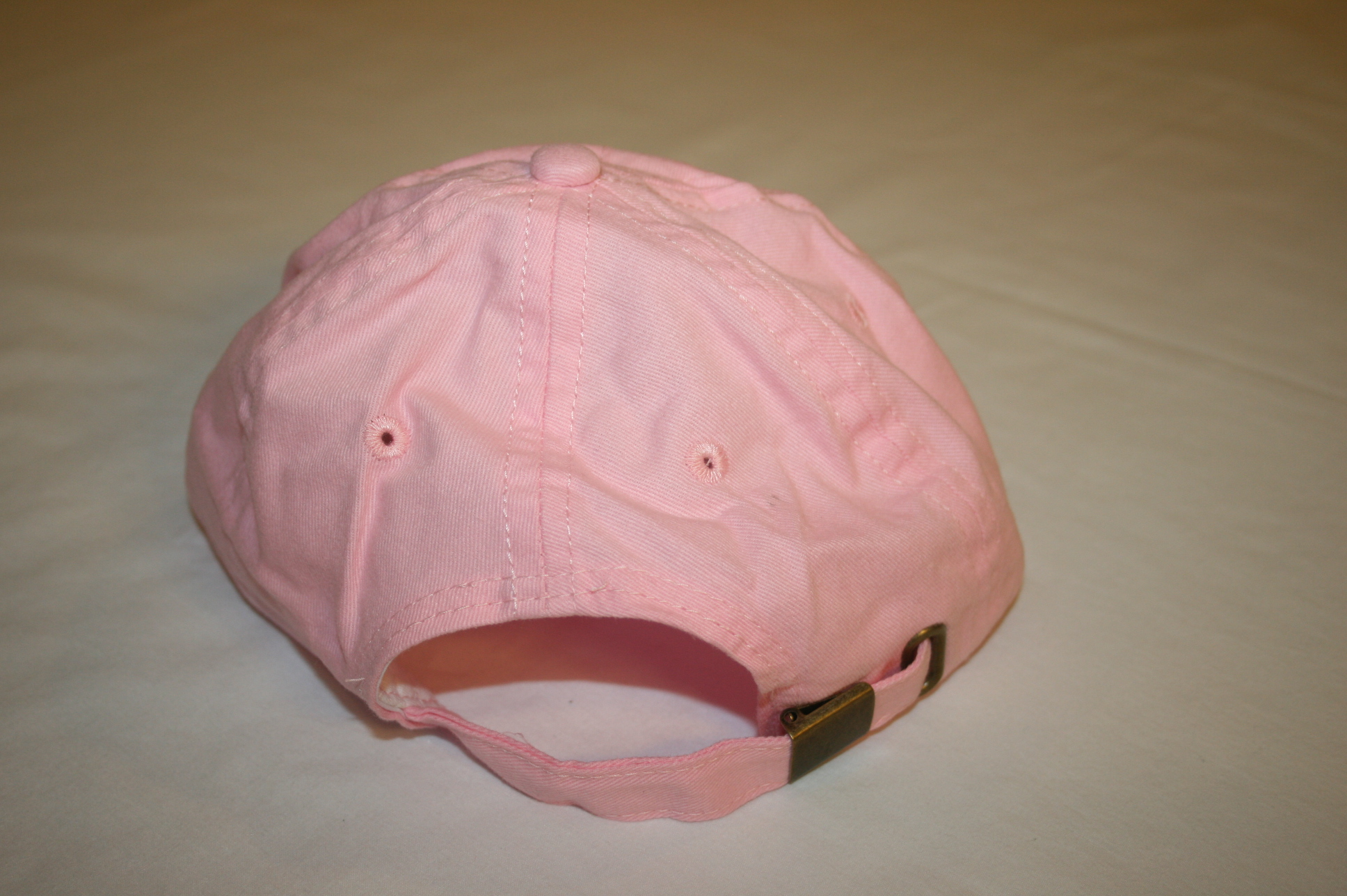 youth pink baseball cap back
