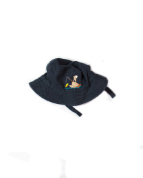 Z_Dark Blue Bucket Hat Fish D