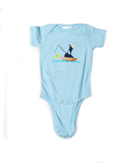 Z_Light Blue Onesie Fish D