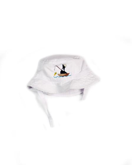 Z_White Infant Bucket Hat Fish D