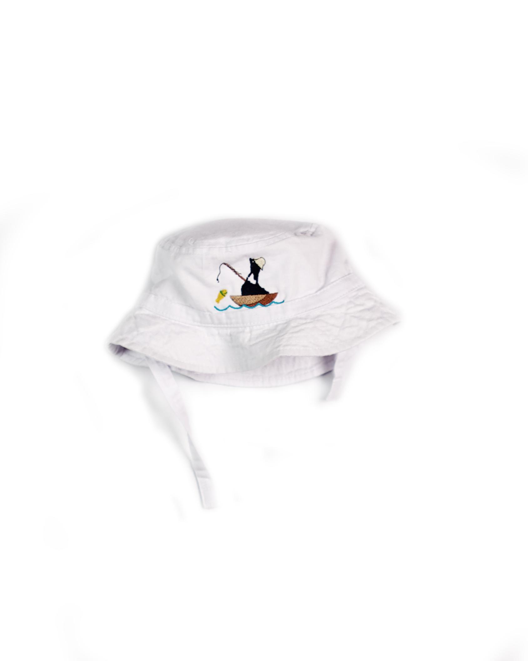Infant bucket cap fishing duck block island hat for White cap fish